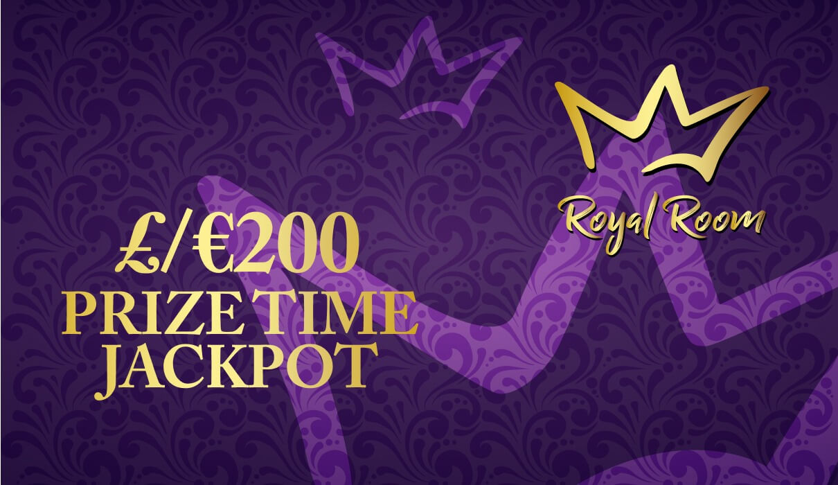 On the last day of every month, you can win a share of €/£200 in our exclusive €/£200 Prize Time game which you will find under Royal Room.